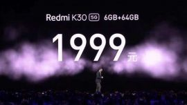5G时代明年才能到?今年红米K30就突破5G手机价格底线,1999元起!